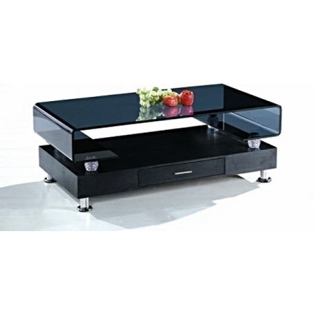 Innovative Elite Coffee Tables With Chrome Legs With Modern Black Coffee Table Glass Top Chrome Legs With Drawer Living (Image 35 of 50)