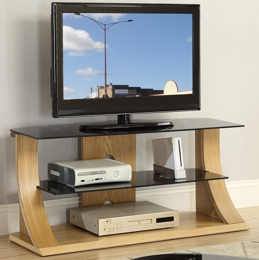 Innovative Elite Glass And Oak TV Stands Pertaining To Tv Stands Astounding Contemporary Design Of 50 Tv Stands For Flat (View 3 of 50)
