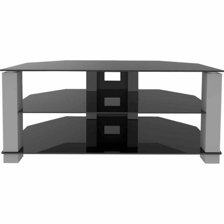 Innovative Elite Glass TV Stands Pertaining To Ematic Metal And Glass Tv Stand For Tvs Up To 70 Lbs And 62 Etvs (Image 25 of 50)