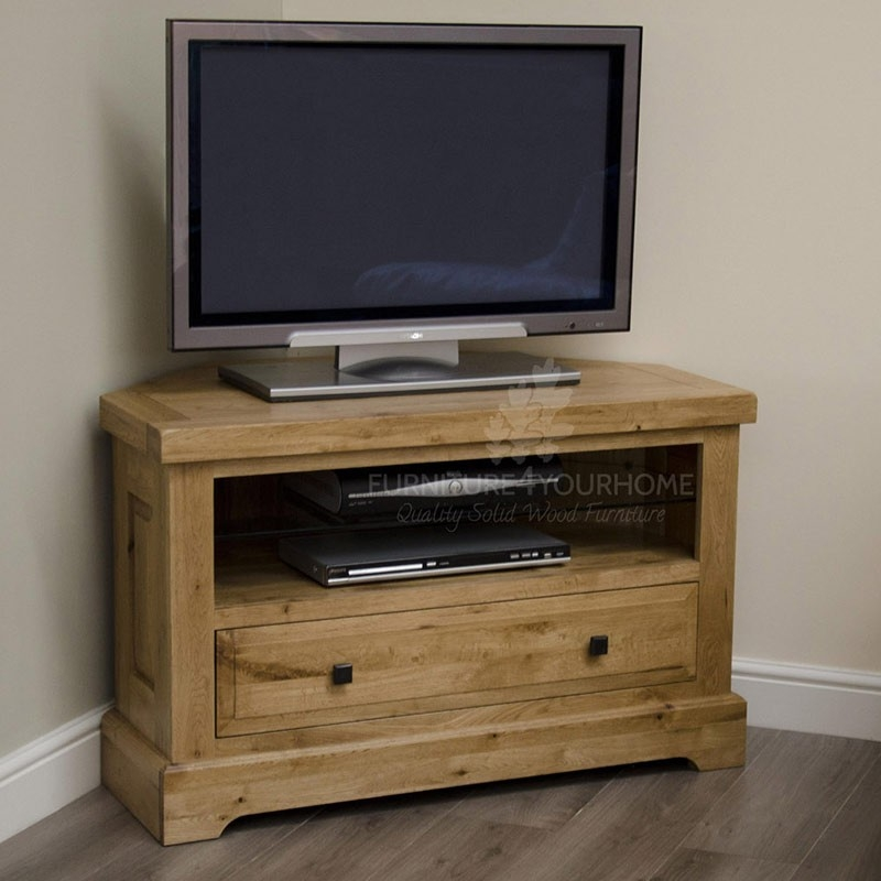 Innovative Elite Oak Corner TV Cabinets With Regard To Deluxe Solid Oak Corner Tv Plasma Unit Furniture4yourhomecouk (Image 26 of 50)