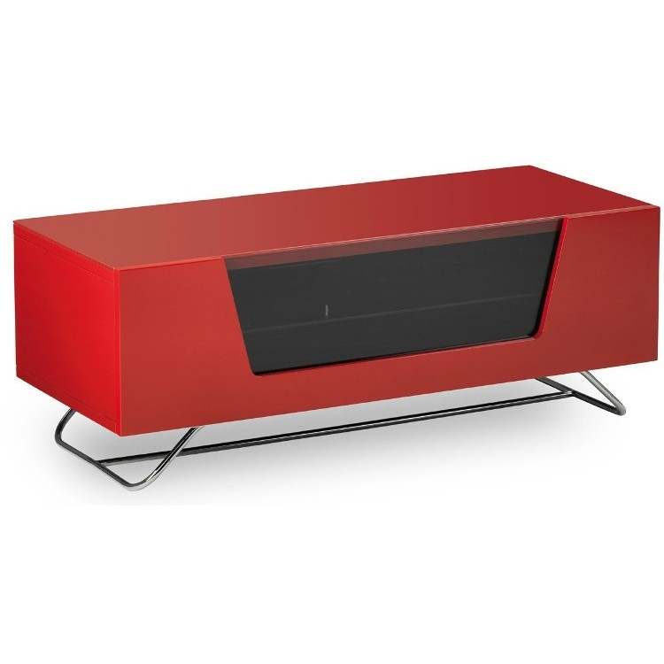 Innovative Elite Red Gloss TV Stands Inside Alphason Chromium 2 Tv Stand Cro2 1000cb Red Red Gloss Tv Cabinet (View 28 of 50)
