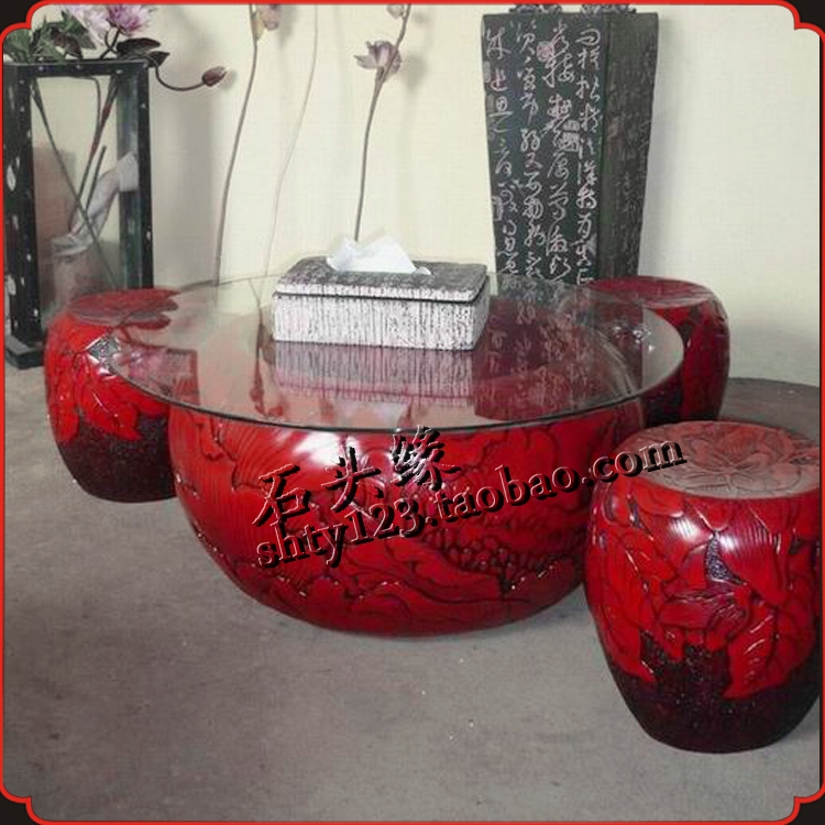 Innovative Elite Round Red Coffee Tables For Aquarium Starfish Picture More Detailed Picture About Stone (View 12 of 50)