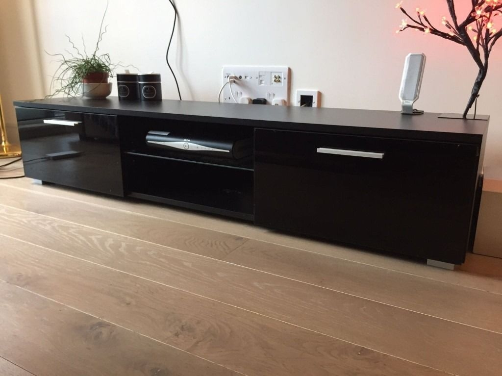 Innovative Elite Shiny Black TV Stands Within Black High Gloss Media Unit Red High Gloss Tv Base Sj With Black (Image 34 of 50)