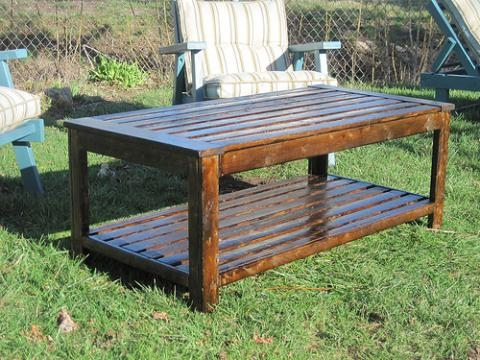 Innovative Elite Wooden Garden Coffee Tables Regarding Living Room Great Diy Outdoor Coffee Table For Outside Tables (View 11 of 50)