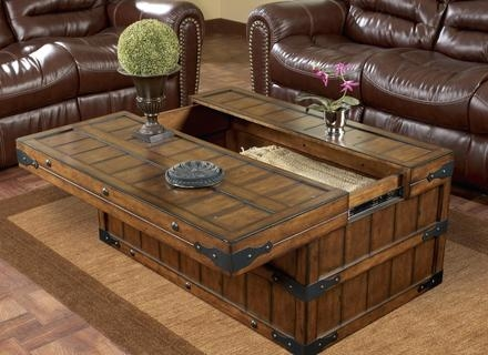 Innovative Elite Wooden Trunks Coffee Tables Throughout Dark Wood Chest Coffee Table Idi Design (View 29 of 40)