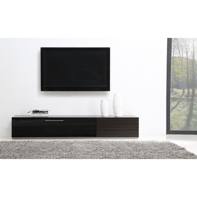 Innovative Famous Black Modern TV Stands With B Modern Producer 80 Tv Stand Reviews Wayfair (Image 25 of 50)