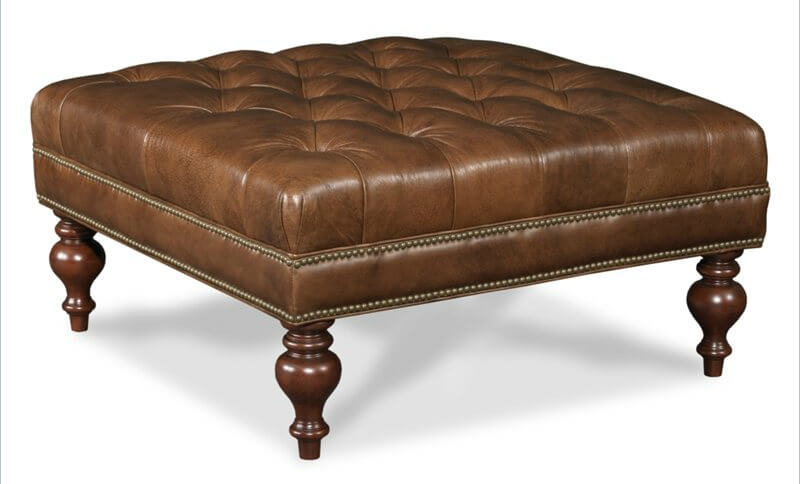 Innovative Famous Brown Leather Ottoman Coffee Tables Within Coffee Table Amusing Ottoman Leather Coffee Table Large Round (View 41 of 50)