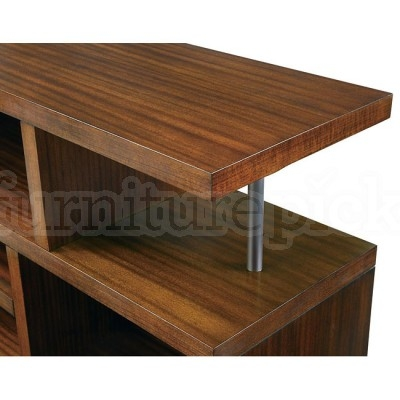 Innovative Famous Brown TV Stands For Brown Tv Console With Open Storage Coaster Furniture Furniturepick (View 44 of 45)