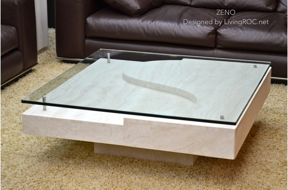 Innovative Famous Elephant Glass Coffee Tables Pertaining To Square Glass Coffee Table Living Room Transitional With Animal (Image 25 of 40)