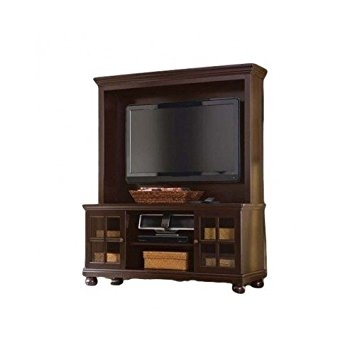 Innovative Famous Expresso TV Stands In Amazon Espresso Tv Stand With Hutch For Flat Panel Lcd Or (View 23 of 50)