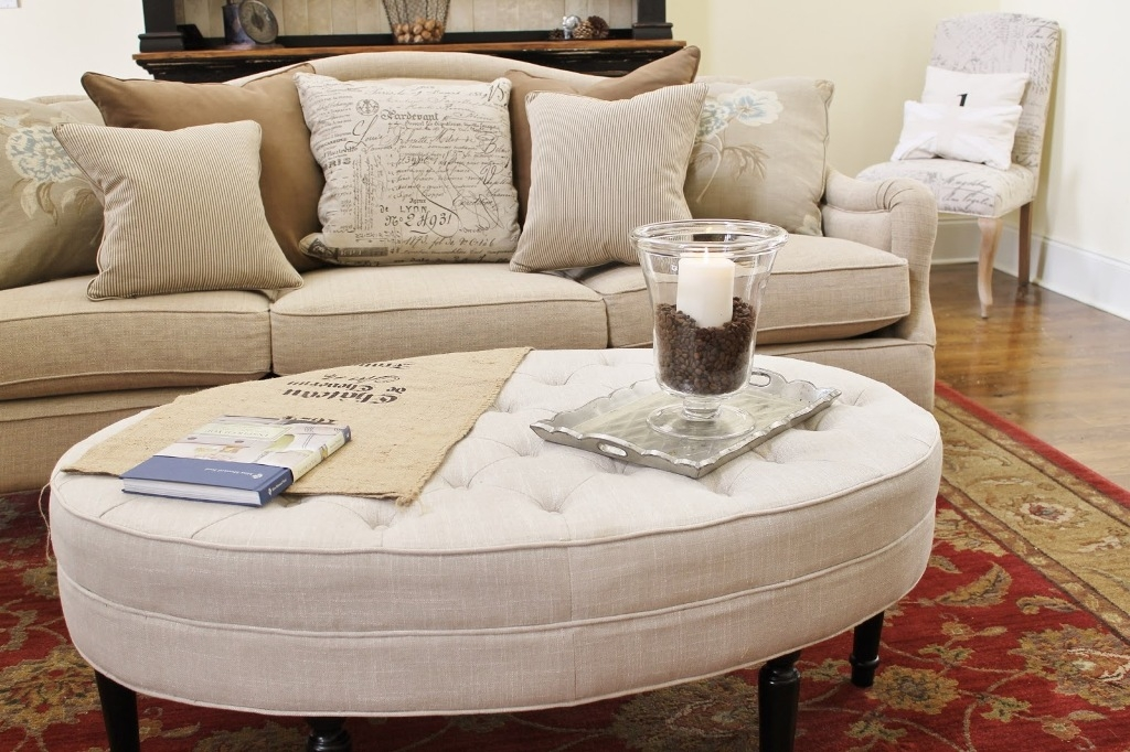 Innovative Famous Fabric Coffee Tables For Stunning Tufted Coffee Table In Casual Looks (View 9 of 50)