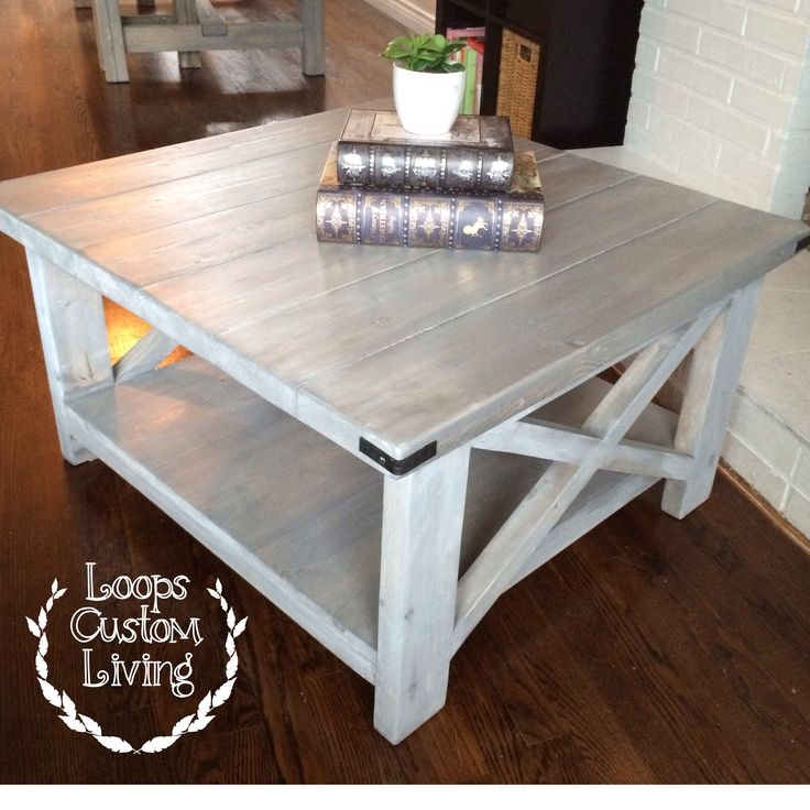 Innovative Famous Grey Wash Wood Coffee Tables Pertaining To Best 20 Square Coffee Tables Ideas On Pinterest Build A Coffee (Image 31 of 50)