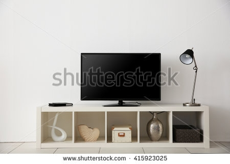Innovative Famous Light Oak TV Stands Flat Screen Regarding Tv Stand Stock Images Royalty Free Images Vectors Shutterstock (View 49 of 50)