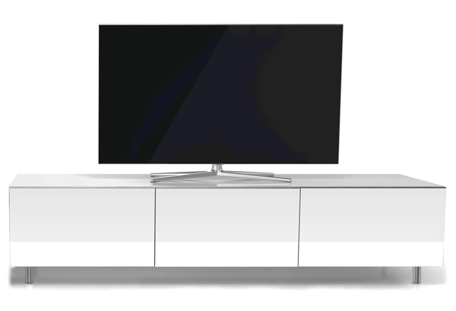 Innovative Famous Long White TV Cabinets Throughout Just Racks Jrl1650 Gloss White Tv Cabinet White Tv Stands (Image 26 of 50)