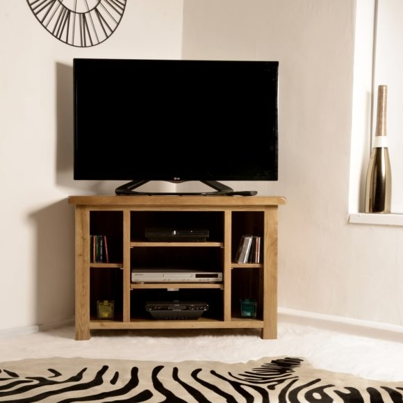 Innovative Famous Real Wood Corner TV Stands With Furniture Solid Wood Media Cabinet With Open Shelf And Tv Stand (Image 36 of 50)