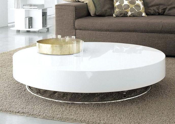 Innovative Famous Round Chrome Coffee Tables Throughout Coffee Table Rectangular Glass Coffee Table Shelf Chrome White (Image 29 of 50)
