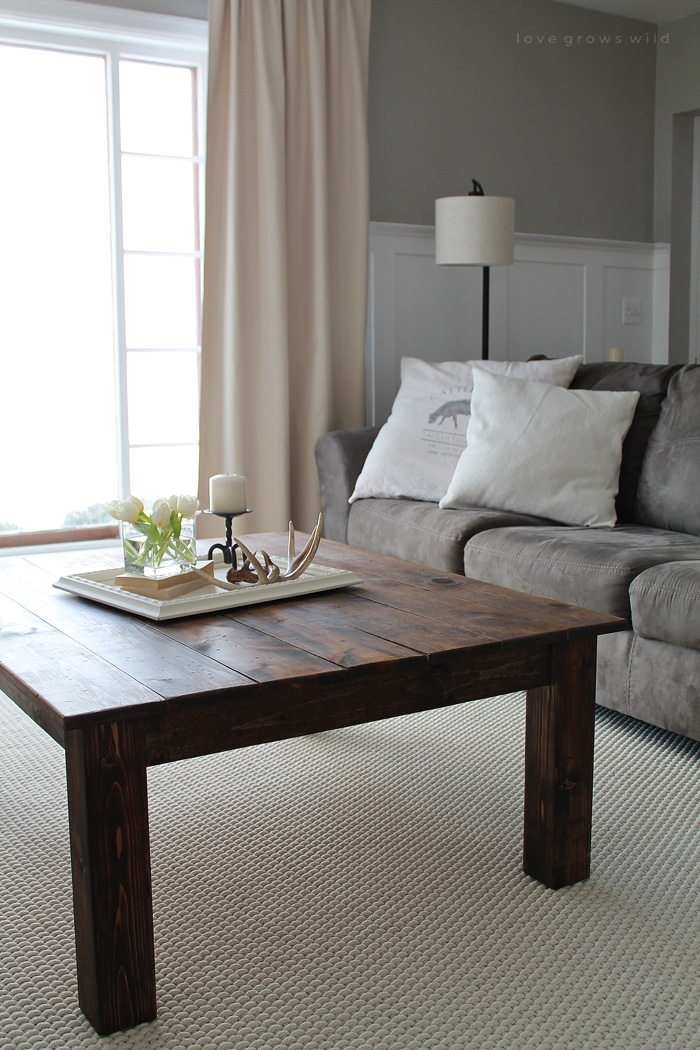 Innovative Famous Rustic Wood DIY Coffee Tables With Regard To Diy Farmhouse Coffee Table Love Grows Wild (Image 30 of 50)