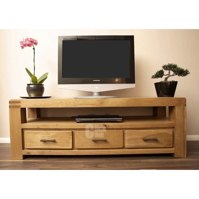 Innovative Famous Rustic Wood TV Cabinets With Regard To Oak Tv Stands Click Oak (View 11 of 50)