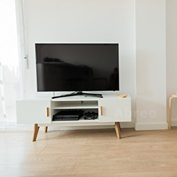 Innovative Famous Scandinavian TV Stands For Scandinavian White Retro Tv Stand For 32 To 55 Television (Image 29 of 50)