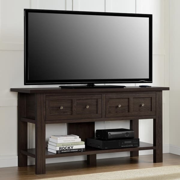 Innovative Famous TV Stands For 55 Inch TV Within Ameriwood Home Pillars Apothecary 55 Inch Tv Stand Console Table (Image 32 of 50)