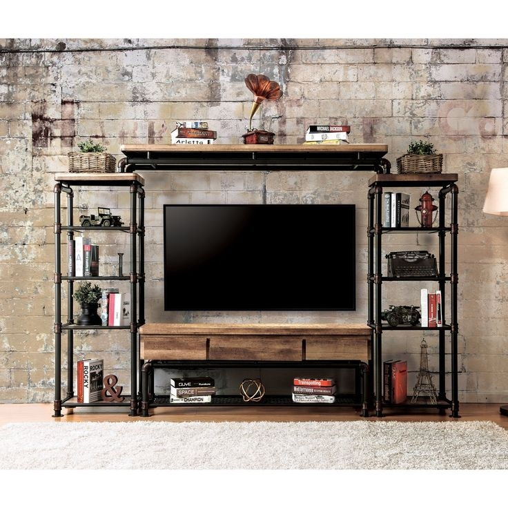 Innovative Famous TV Stands With Bookcases For Best 20 Industrial Tv Stand Ideas On Pinterest Industrial Media (Image 31 of 50)