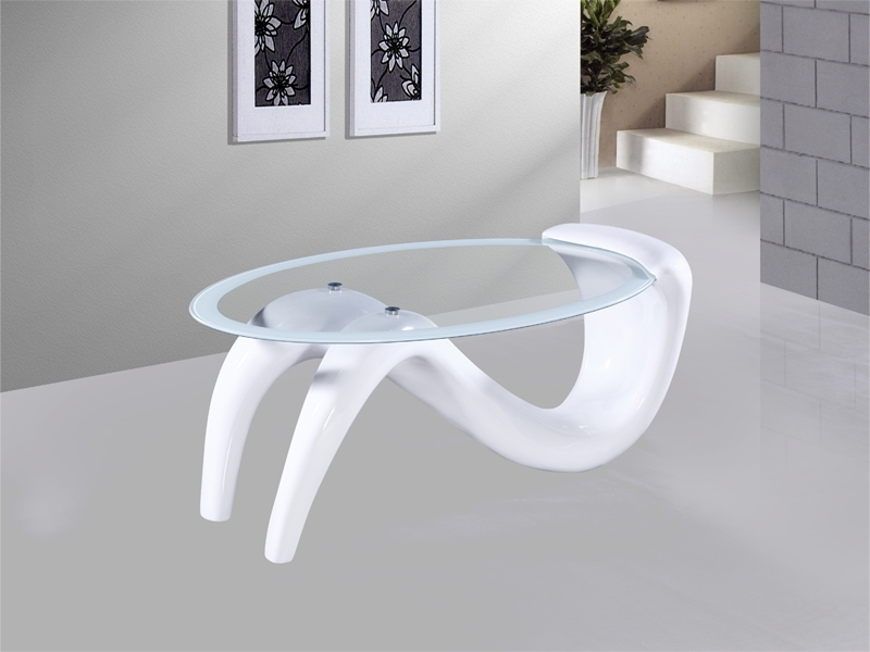 Innovative Famous White High Gloss Coffee Tables In Venice Oval White Gloss Coffee Table Catalogue Outlet (View 33 of 50)