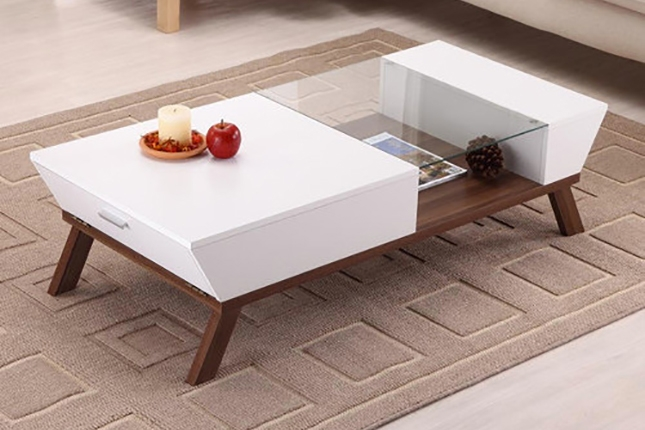 Innovative Famous White Wood And Glass Coffee Tables Throughout Coffee Table Nice Coffee Table Modern Design Ideas Modern Side (Image 27 of 40)