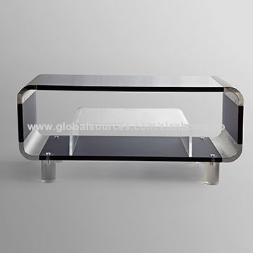 Innovative Fashionable Acrylic TV Stands Regarding Acrylic Tv Stand With Small Coffee Table Global Sources (View 4 of 50)