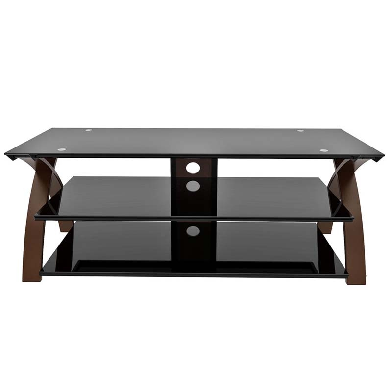 Innovative Fashionable Black Glass TV Stands Inside Z Line Designs Willow 58 Inch Tv Stand Espresso And Black Glass (Image 32 of 50)