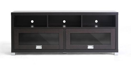 Innovative Fashionable Black TV Stands With Glass Doors In Baxton Studio Modern Tv Stands (Image 25 of 50)