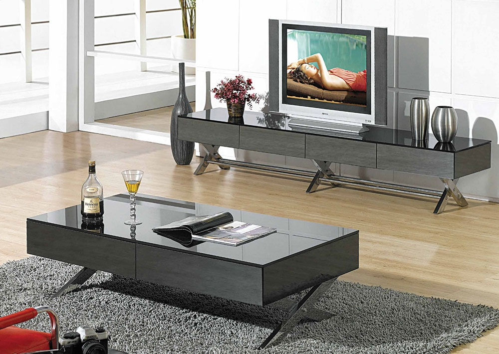 Innovative Fashionable Coffee Tables And TV Stands Within Modern Glossy White Tv Stand Cr059 Tv Stands (View 5 of 50)