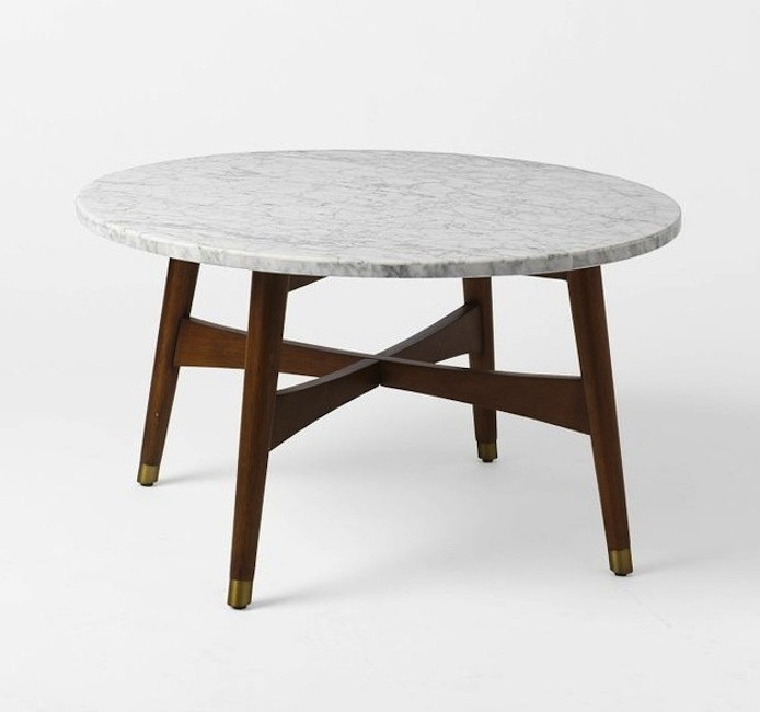 Innovative Fashionable High Coffee Tables Throughout Highlow Marble Topped Coffee Tables Remodelista (View 15 of 50)