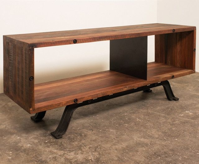 Innovative Fashionable Industrial TV Cabinets For Furniture Interesting Reclaimed Wood Tv Stand For Home Furniture (Image 27 of 50)