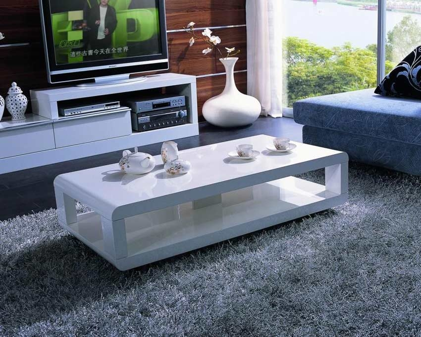 Innovative Fashionable Large Low White Coffee Tables Throughout Beautiful Contemporary White Coffee Table (Image 32 of 50)