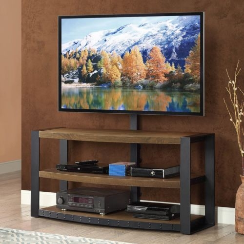 Innovative Fashionable Metal And Wood TV Stands Regarding Rustic Contemporary Tv Stand Metal Wood Media Console (Image 31 of 50)