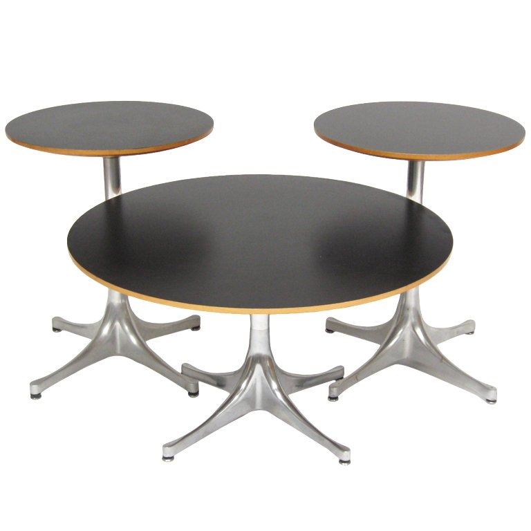 Innovative Fashionable Nelson Coffee Tables With George Nelson Pedestal Tables Herman Miller At 1stdibs (Image 25 of 50)