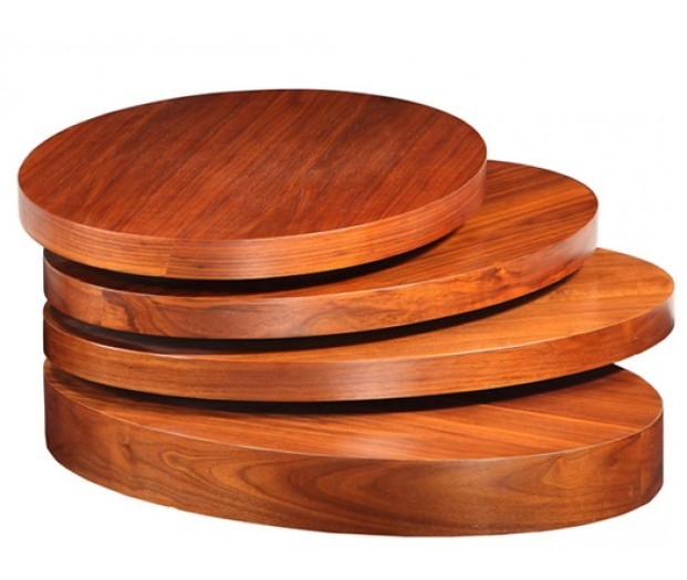 Innovative Fashionable Oval Walnut Coffee Tables With Regard To Modern Oval Walnut Veneer Coffee Table (Image 32 of 50)