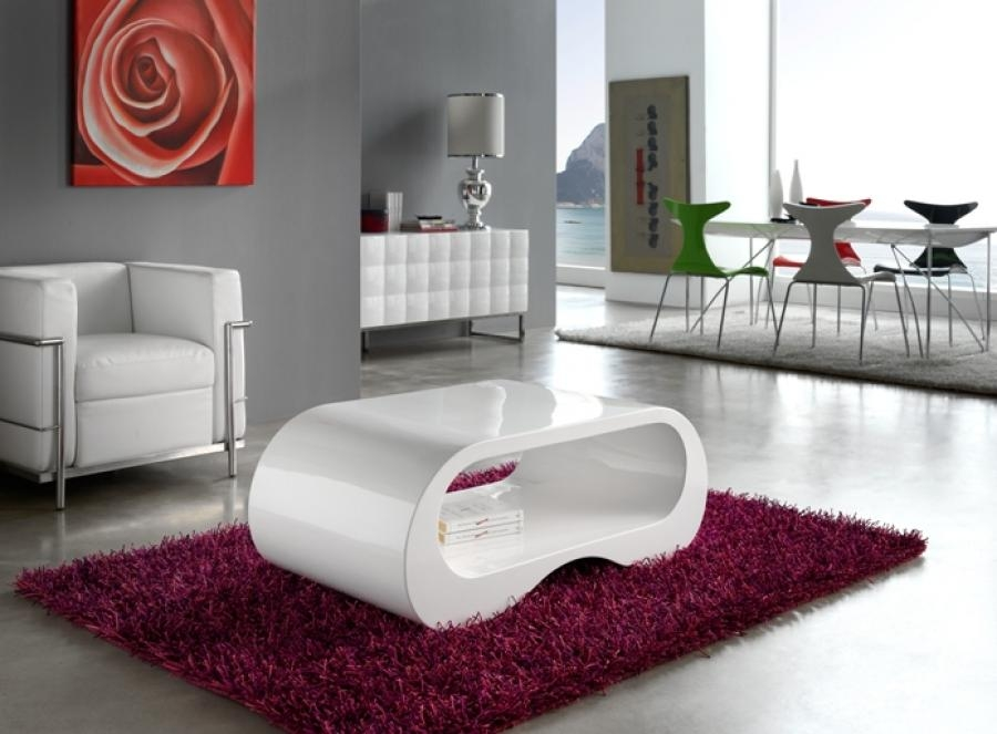 Innovative Fashionable Oval White Coffee Tables In White Living Room Table 1005c Modern White Lacquer Coffee Table (Image 30 of 50)
