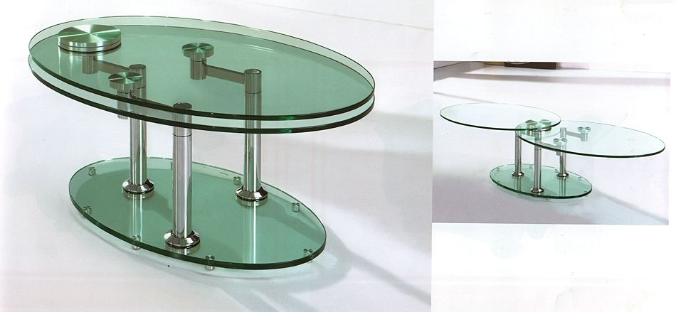 Innovative Fashionable Revolving Glass Coffee Tables With Regard To Coffee Table Rotating Glass Coffee Table Clear Rectangle Shape (Image 26 of 40)