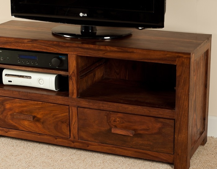 Innovative Fashionable Sheesham TV Stands Intended For Solid Wood Tv Console Casa Bella Handcrafted Sheesham Furniture (Image 29 of 50)