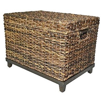 Innovative Fashionable Storage Trunk Coffee Tables With Amazon Brown Wicker Storage Trunk Coffee Table Threshold (Image 35 of 50)