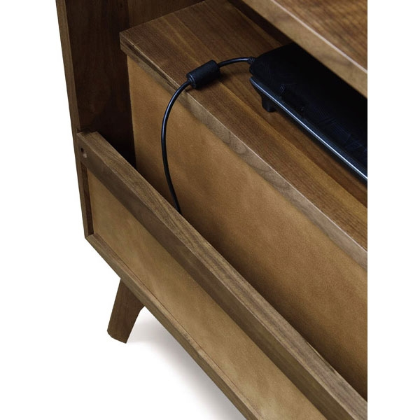 Innovative Fashionable Walnut TV Stands In Modern Catalina Walnut Tv Stand Console American Made Mid (View 39 of 50)