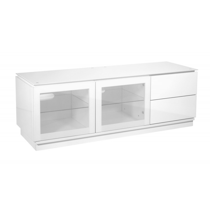 Innovative Fashionable White Gloss TV Stands With Drawers With Designer Tv Cabinets In Black Or White Gloss (Image 31 of 50)