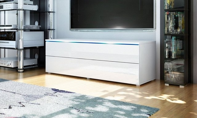 Innovative Fashionable White Gloss TV Stands With Drawers With Shop (Image 32 of 50)