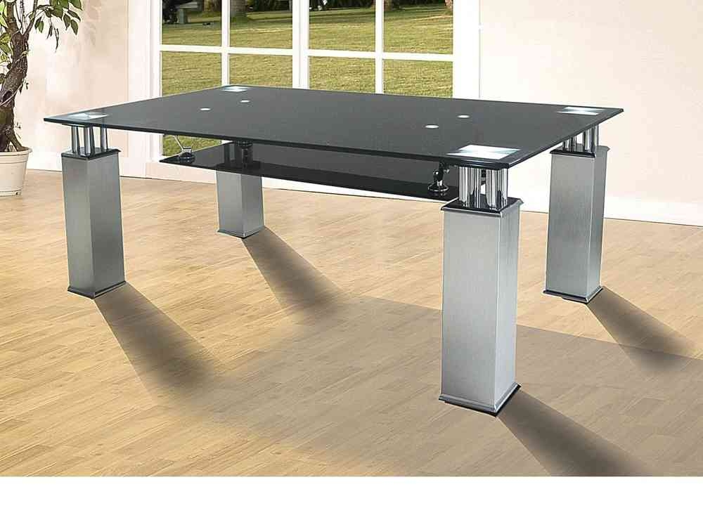 Innovative Favorite Aluminium Coffee Tables In Black Glass Coffee Table With Aluminium Legs Homegenies (Image 32 of 50)