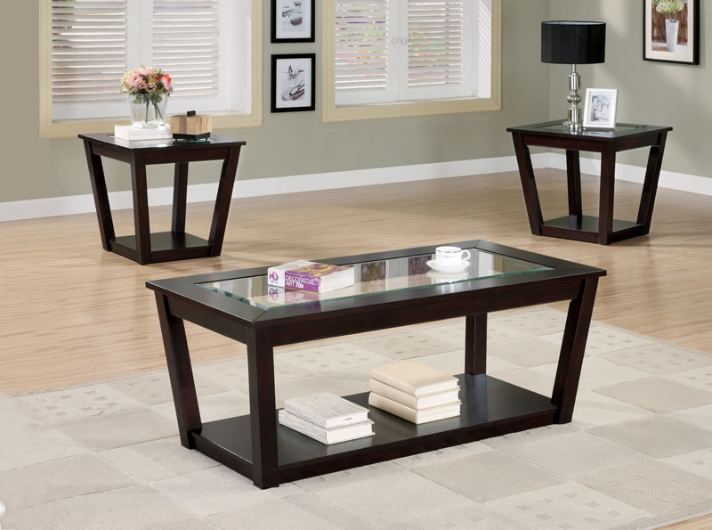 Innovative Favorite Black Wood And Glass Coffee Tables Pertaining To Black Wood Coffee Table Sets Eva Furniture (Photo 44 of 49)