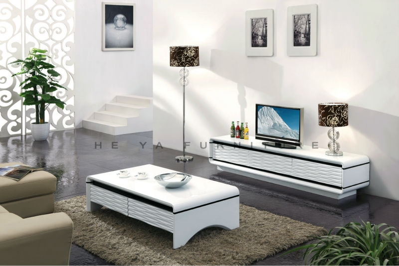 Innovative Favorite Coffee Tables And TV Stands Matching Intended For White High Gloss Lcd Tv Standmodern Lcd Table Wooden Buy Tv (Image 33 of 50)