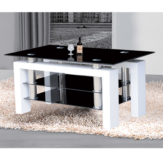 Innovative Favorite Glossy White TV Stands Intended For High Tv Stand Sl Series 35inch Width Black Glass Tv Stand (Image 30 of 50)