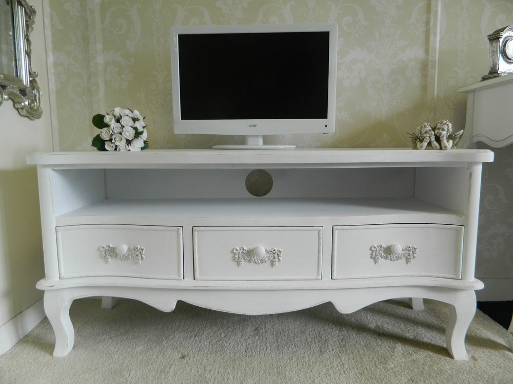 Innovative Favorite Large White TV Stands In Shab Chic Tv Stand Mw Home French Antique Shab Chic Living (View 28 of 50)