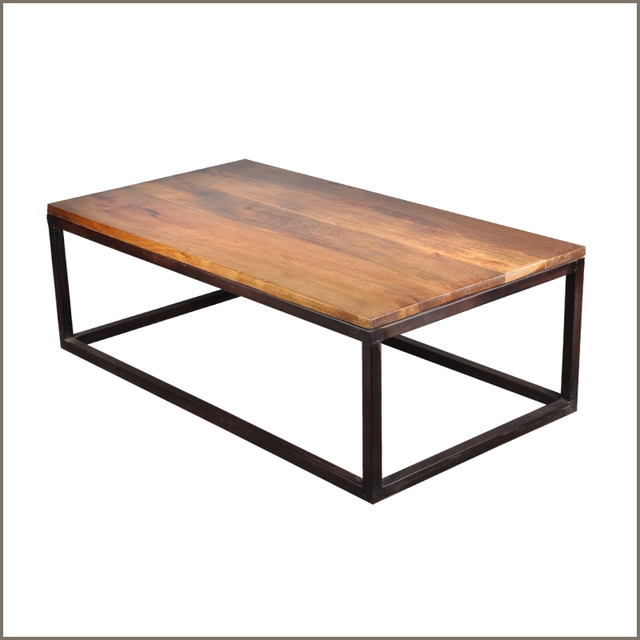 Innovative Favorite Mango Wood Coffee Tables Throughout Iron Mango Wood 52 Long Coffee Table Modern Coffee Tables (Image 29 of 50)